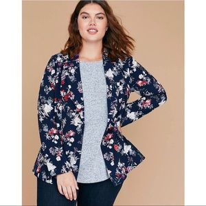 Lane Bryant The Bryant Blazer Blue Floral Jacket